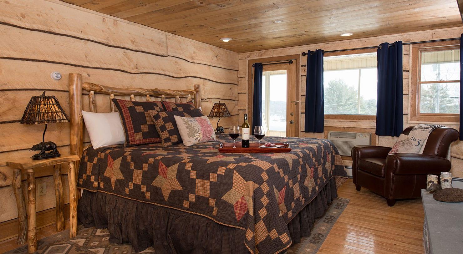 Luxury lodging in the adirondacks friends lake inn for Cabin hotel new york