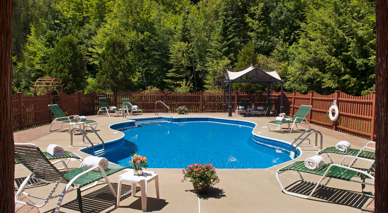 Outdoor Pool at an Adirondack Hotel