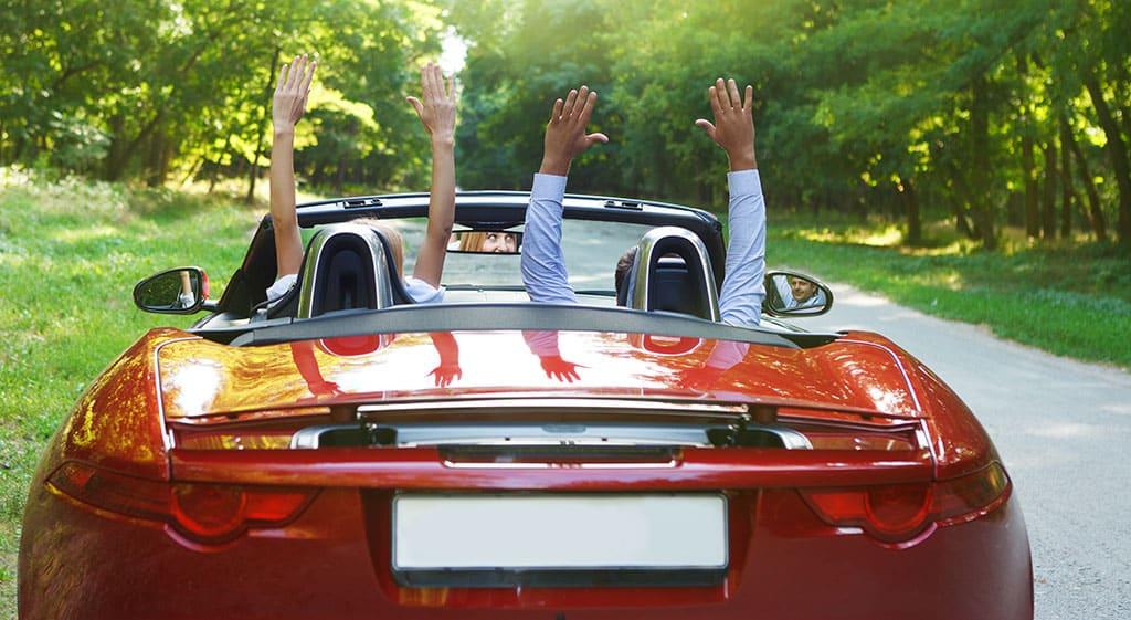 Adirondacks Honeymoon - Couple Driving