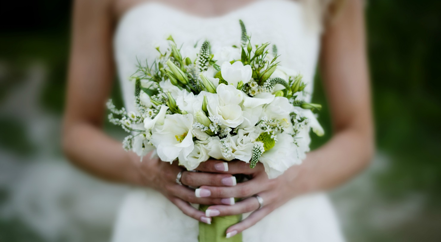 Elope in New York - Bride with Flowers